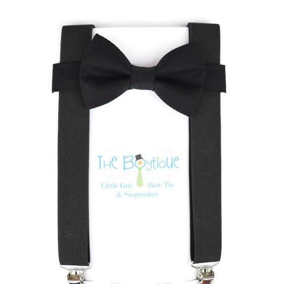 black bow tie and suspenders black suspenders