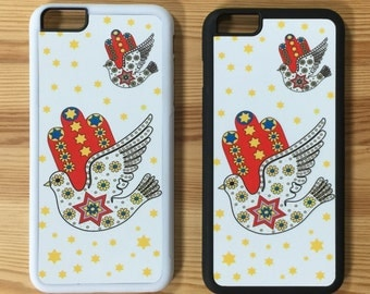 Jewish Judaica Dove of Peace Cell Phone Case