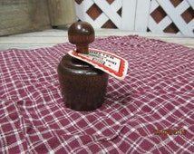 Vintage Nayco Wood Press Carved Wood Butter Cookie Mold Stamp Acorn Butter & Cookie Print