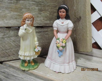 Vintage Home Interior Homco Porcelain Figurines Little Girls Special Friends & 15th Birthday Celebration