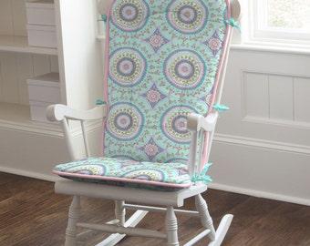 Aqua Haute Baby Rocking Chair Pad by Carousel Designs