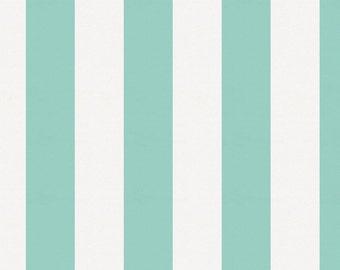 Mint Stripe Organic Fabric - By The Yard - Girl / Boy / Gender Neutral