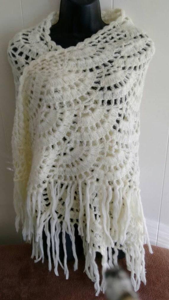 Bolero Scarf Shawl Neckwarmer Crochet Pattern : Lace Mohair Shawl Wrap Shrug Scarf Cowl by NannyJansNovelties