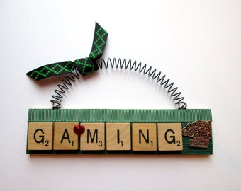 Video Game XBox Gamer Scrabble Tile Ornament