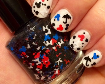 Supercali-mouse-alistic  ~ 15 mL Full size bottle ~ Indie Nail Polish Glitter Lacquer