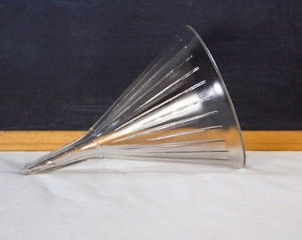 Vintage Laboratory Chemistry Funnel Ribbed