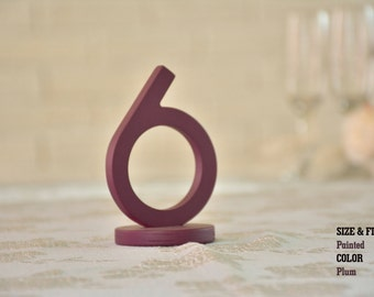 Plum Wedding Table Numbers, SET 1/40, Elegant Wedding Table Numbers, Gold Table Numbers, Silver Table Numbers