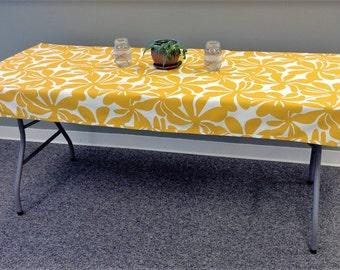Great Fitted Tablecloth For Your Folding Banquet Table. Durable Indoor Outdoor  Fabric, Washable, Spill