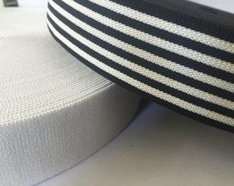 3.5 cm very soft and thick elastic webbing, elastic by the yard, elastic waistband, elastic band