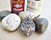 Silver Aromatherapy Necklace ~ Silver Star Essential Oil Necklace - Silver Plated Jewelry ~ Essential Oil Jewelry ~ Aromatherapy