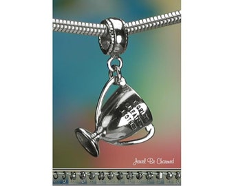 Sterling Silver World's Greatest Mother Trophy Charm or Charm Bracelet