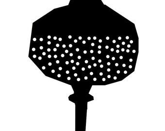 Poppyseed head poster, 50x70 or 30x40 cm, black&white
