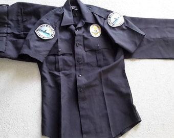 Vintage Men's Police Academy Uniform from Golden West College.