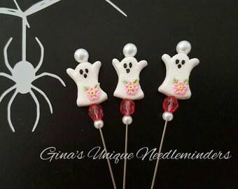 Pink Ghost Counting Pin, lapel pin, marking pin
