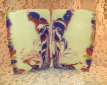 Pretty Rorshach- handmade cold process soap