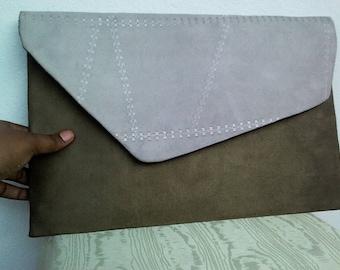 Oversized envelope clutch purse