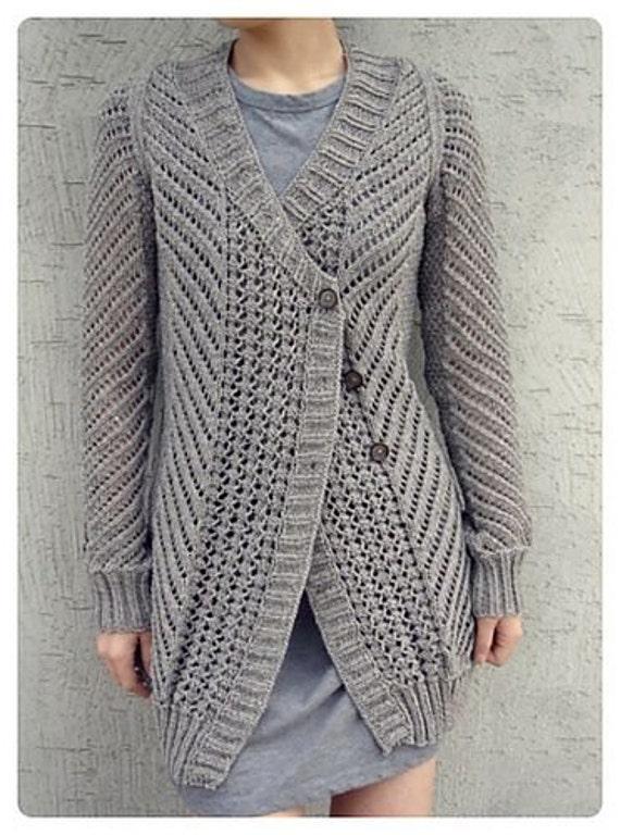 Hand Knit womens cardigan womens jacket women hand