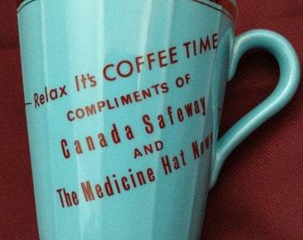 SALE!  Mug, Coffee/Tea, Advertising Hycroft, Medicine Hat, Alberta