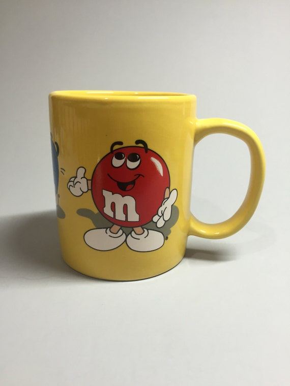 M Amp M Coffee Mug Yellow Coffee Mug M And M Ceramic Mug