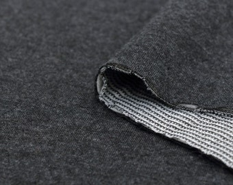 Quilted Knit Fabric Charcoal Heather By The Yard