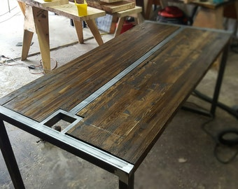 Industrial Reclaimed Conference Table