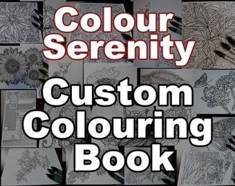 Custom Colouring Book - 10 pages of your choice
