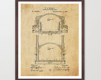 Pottery Kiln - Kiln Patent - Pottery Patent - Pottery Poster - Pottery Wall Art - Kiln - Arts and Crafts Poster - Arts and Crafts Decor