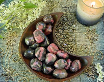 Tumbled Rhodonite - A Stone for Emotional Healing