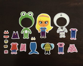 Magnetic Paper Doll Set - Children's Toy