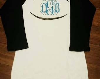 Football Monogram Shirt | Football Mom Shirt