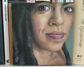 "Molejinha - Original Portrait Painting - Acrylic on Canvas 6"" x 6"""