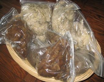 Raw Wools LLAMA,,Babydoll SHEEP, Angora GOAT