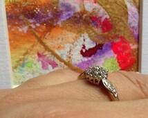 Painting of enchantment  & Alchemy Ring ~Wicca Witchcraft~Magic art~Diamonds~Djinn.Alchemy