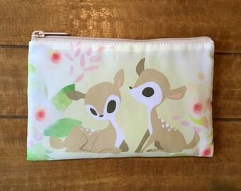 Deer makeup bag