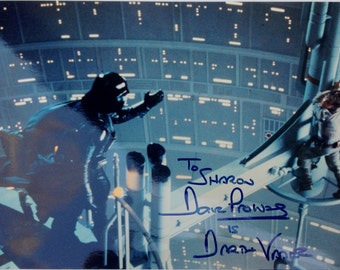 Dave Prowse is Darth Vader Autograph Photography from 1996 Starbase 21 Star Trek Convention featuring Star Wars 20th Anniversary