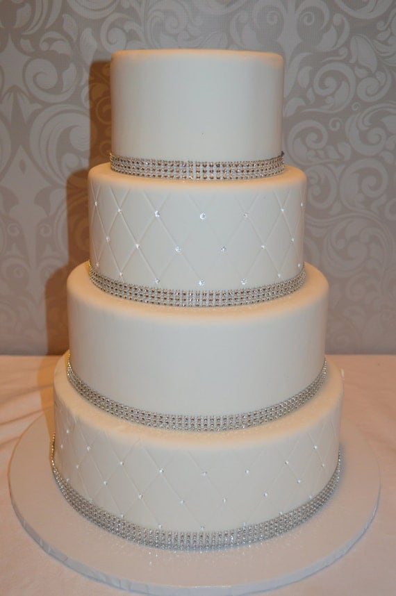 Four Tier Fondant Faux Wedding Cake Fake Wedding Cake
