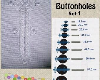 Buttonholes Set 1- Machine Embroidery Designs Set