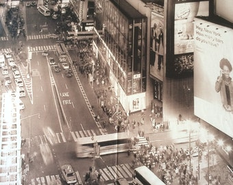 Cotton sateen - Digital Print New York - 100% cotton - 205 cm x 150cm