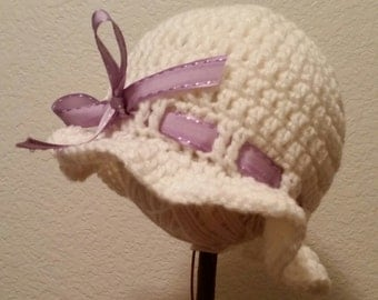 Baby Bonnet/ Sunhat with Ribbon