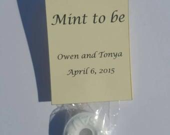 Mint to be, wedding favors, bridal shower, favor
