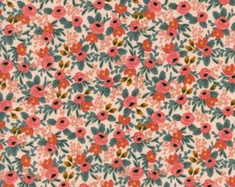 Rosa in Peach of Les Fleurs by Rifle Paper Company for Cotton and Steel