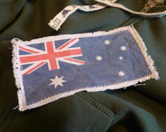 "6"" Retro Vintage AUSTRALIAN Flag Patch - Make new clothes look vintage or breath new life into old clothing."