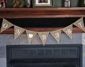 OH BABY Banner   Oh Baby Burlap Banner   Pregnancy Announcement   Baby Shower Banner   Rustic Baby Shower   Gender Reveal   Maternity Photos