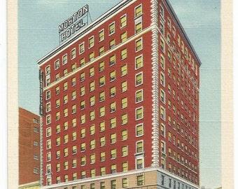 Grand Rapids, Michigan Morton Hotel Linen Era Postcard