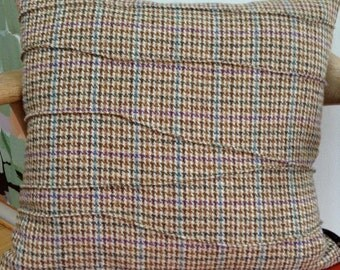 Harris Tweed Houndstooth cushion cover