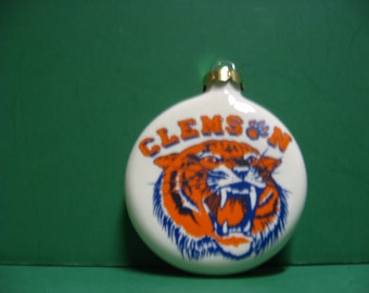a 3 inch Clemson Tiger ceramic hanging ornament... awesome!!!