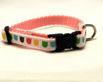 Customizable Colorful Tulip Breakaway Cat Collar