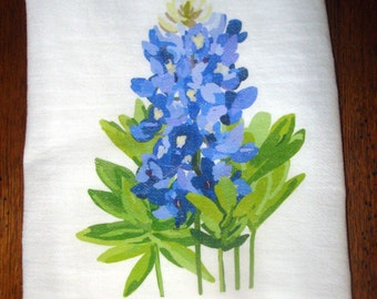 Flour Sack Kitchen Towel Bluebonnets