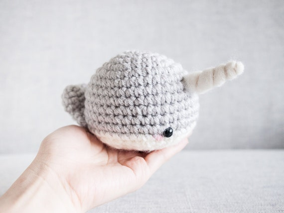 Crochet Amigurumi Narwhal : Narwhal plush toy Amigurumi Crochet Kawaii Plush Narwhal