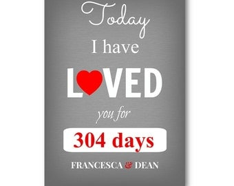 Personalised Love Anniversary Card  - Personalized Anniversary Card - Husband, Wife, Boyfriend, Girlfriend, Fiance, Fiancee, Valentine's